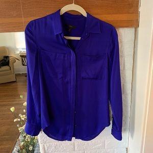 Stunning JCrew Blue Silk Shirt